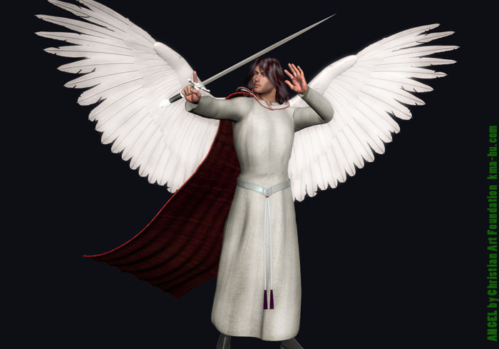 Invisible Enemies Angel Christian 3D Art 700B
